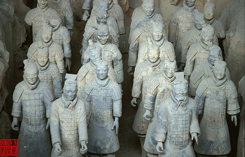 Terracota Warriors made of clay as funeral objects